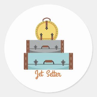 Jet Setter Round Sticker