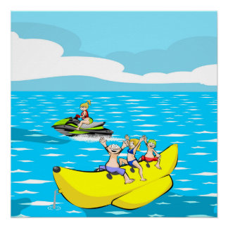 Jet ski and Banana boat Poster