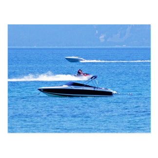 Jet Ski And Boats In The Ocean Postcard