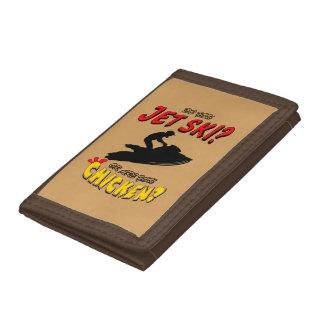 Jet Ski or Chicken? (BLK) Tri-fold Wallets