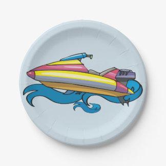 Jet Ski Paper Plates
