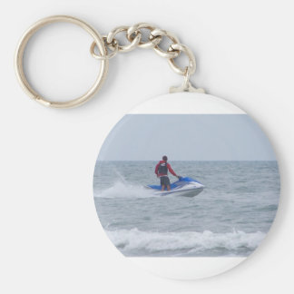 jet skiing at the beach keychain