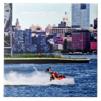 Jet Skiing by Colgate Clock Tiles