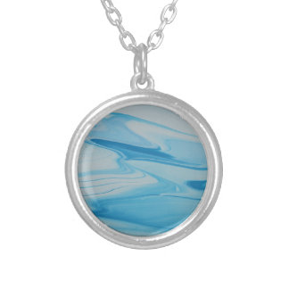 Jet Stream Silver Plated Necklace