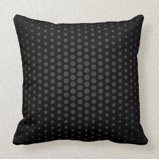 Jet Techno Dots Modern Black Throw Pillow