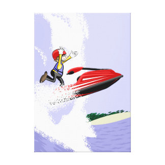 Jet young ski gives a jump by the air if to take canvas print
