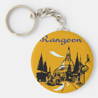 Jet Your Way to Rangoon Keychain