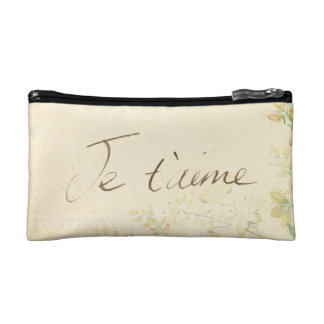 'Jet'aime' - French Vintage Victorian Floral Cosmetic Bag