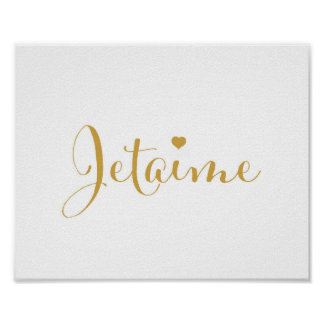 Jetaime - I love you in French - art print