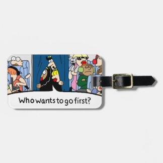 Jetlagged Comic | You Go First Luggage Tag
