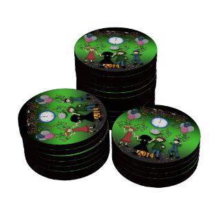Jetons de poker de la partie de nouvelle année