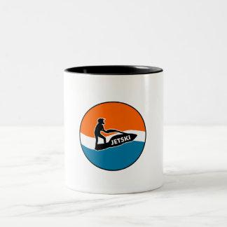 JetSki Two-Tone Coffee Mug