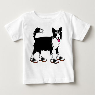 Jett the Border Collie Baby T-Shirt
