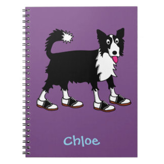 Jett the border collie notebook