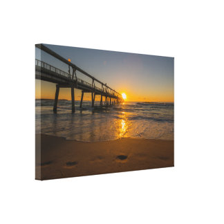Jetty at Sunrise - Wrapped Canvas