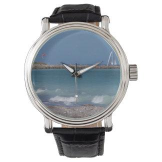 jetty boats waves florida beach wrist watches
