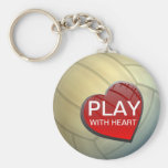 Jeu avec le volleyball Keychain de coeur
