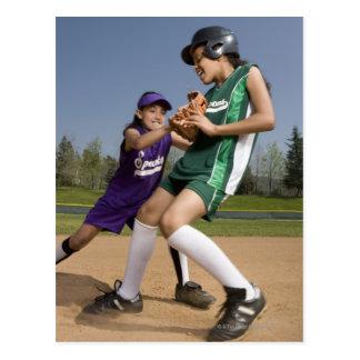 Jeu de base-ball d'équipe de minimes carte postale