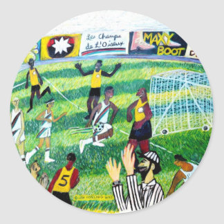 Jeu de football sticker rond