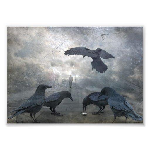 Jeu de Ravens avec du temps perdu Impression Photo