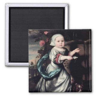Jeune fille à une fontaine, 1662 magnet carré
