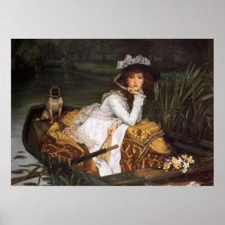 Jeune Madame dans un bateau