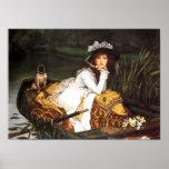 Jeune Madame de James Tissot dans une affiche de b