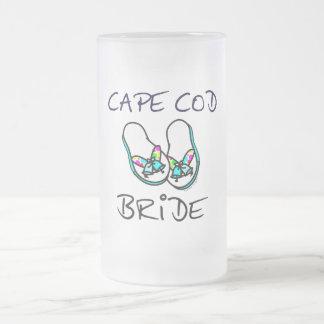 Jeune mariée de Cape Cod Frosted Glass Beer Mug
