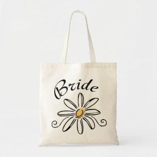 Jeune mariée de fleur sac en toile budget