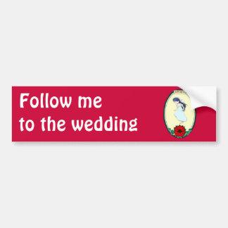 Jeune mariée, épousant des articles autocollant de voiture