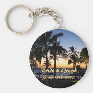 Jeune mariée et marié tropicaux Keychain de destin Porte-clefs