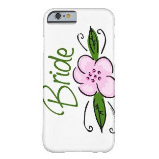 Jeune mariée rose de fleur coque iPhone 6 barely there