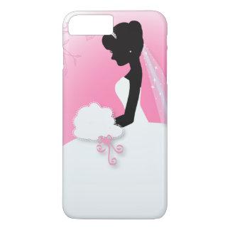 jeune mariée rose mignonne moderne de silhouette coque iPhone 7 plus