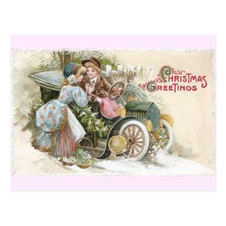 Jeune Noël de cabriolet de couples et de cru
