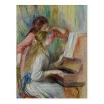 Jeunes filles au piano, c.1890 carte postale