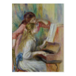 Jeunes filles au piano, c.1890 cartes postales