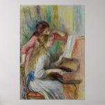 Jeunes filles au piano, c.1890 poster