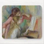 Jeunes filles au piano, c.1890 tapis de souris