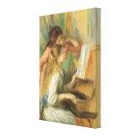 Jeunes filles au piano par Renoir, beaux-arts Impression Sur Toile