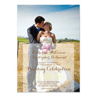 Jeunes mariés sur un champ/faire-part de mariage carton d'invitation  12,7 cm x 17,78 cm