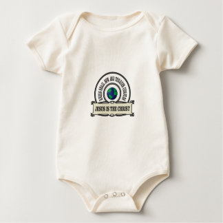 Jeus christ savior man baby bodysuit