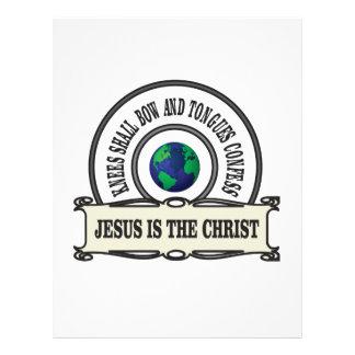 Jeus christ savior man letterhead