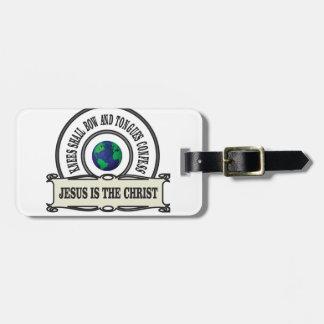 Jeus christ savior man luggage tag