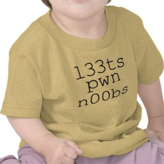 Jeux et jeux vidéo - pwn Noobs de Leets T-shirts