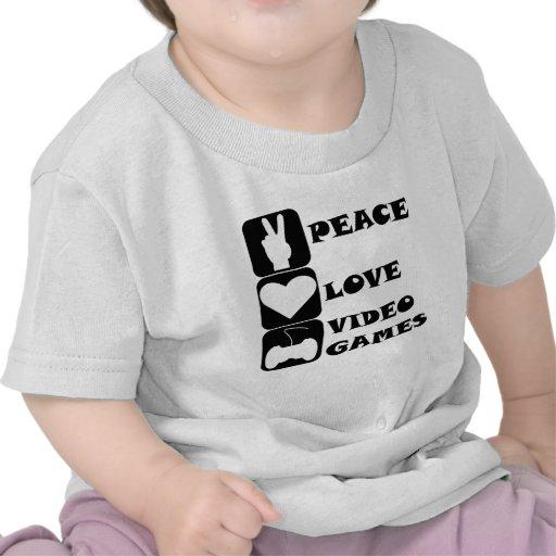 Jeux vidéo d'amour de paix t-shirts