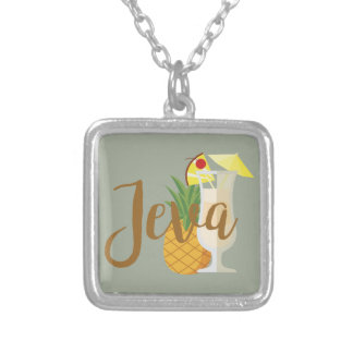Jeva Silver Plated Necklace