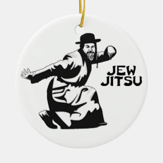 Jew Jitsu Ornament | Jewish Bar Mitzvah Gifts