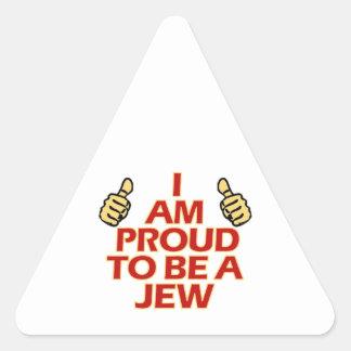 Jew religious designs triangle sticker