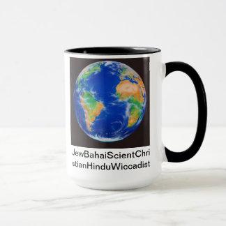 JewBahaiScientChristianHinduWiccadist Holiday Mug