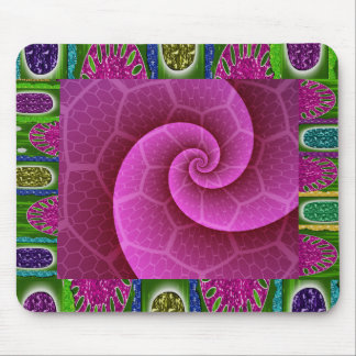 Jewel and Glitter Swirl Design Mousepad